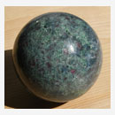 Ruby and Kyanite in Zoisite Sphere 001